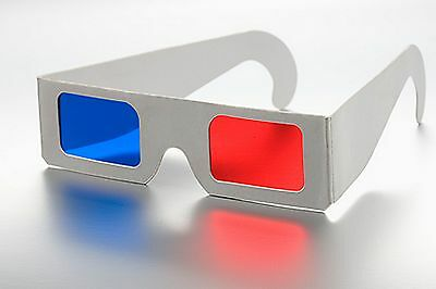 5x New Red Blue Anaglyphic 3D Glasses Movies Comics Blurays ect
