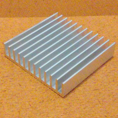 2 inch Heat Sink Aluminum (2.0 x 2.079 x 0.464) inches. Low Thermal Resistance.