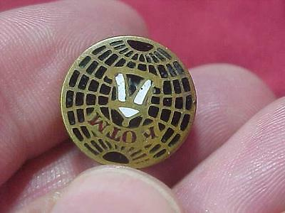 The Knights of the Maccabees Screwback KOTM Pin Fraternal (14F1)
