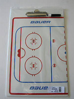 """BAUER Deluxe Dry Erase Hockey Coaching Board! NEW, 16"""" X 10"""", FREE MARKER"""