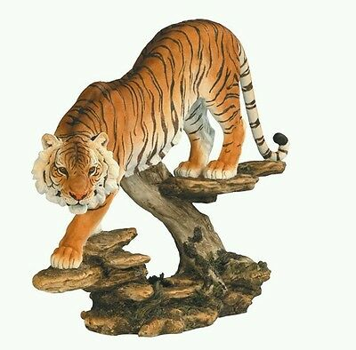 "Bengal Tiger Statue 16""W x 13""H Figurine Collectible Figure"