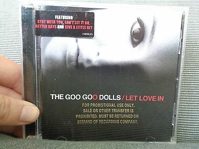THE GOO GOO DOLLS_Let Love in Promo_used CD_ships from AUSTRALIA_F4