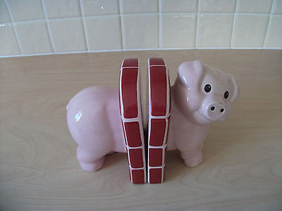 Carlton Ware Piggy Bookends Earthenware