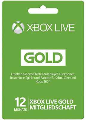 XBOX 360 LIVE 12 MONATE XBOX ONE GOLD MITGLIEDSCHAFT KEY Month subscription CODE