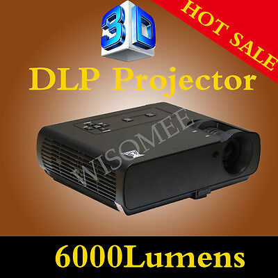 Real 6000 Lumens 800*600 Contrast 10000:1 HOT NEW HOME THEATER 3D DLP PROJECTOR