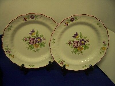 BOOTHS CAROLINE  (2) DINNER PLATES Made in England A8012
