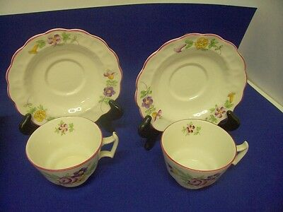BOOTHS CAROLINE  (2) CUPS SAUCERS Made in England A8012