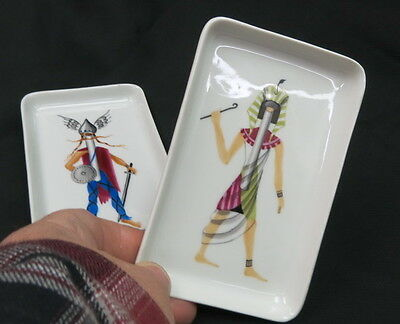 2 art deco  subliminal advertising  cigarette sales RARE  night club TIP TRAY pr