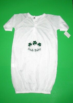 Shamrock Infant Baby Nightgown. So Soft. Fits Up To 12 Months. New