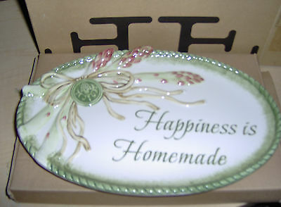 FITZ & FLOYD SENTIMENT PLATE~2009~#53-283~HAPPINESS IS HOMEMADE~SHIPS PRIORITY