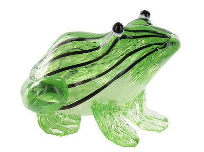 Art-Glass FROG Figurine Heavy Sale!! NEW Deluxe Gift NEW Paperweight