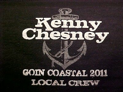 New Kenny Chesney T-Shirt Goin Coastal 2011 Size Xl Black Rare Local Crew