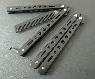 1PC Stainless Steel Training Butterfly Knife Comb For Outdoor Camping Practice