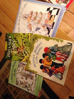Lot Of 4 Teacher Big Picture Books Oversized Shared Reading Resource Educational