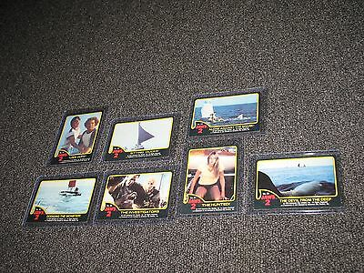 Vintage Jaws 2 Trading Cards 1978 Lot of 7