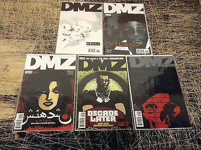 Lot Of 5 DMZ DC Vertigo Comic Books # 22 23 24 25 26 Show Upcoming Brian Wood R9
