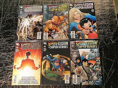 Lot Of 6 Supergirl Legion Of Super-Heroes DC Comic Books # 22 23 24 25 26 27! D9