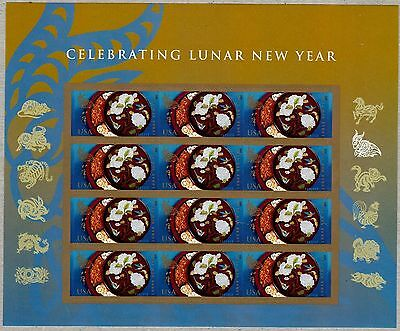 US 2015 CELEBRATING CHINESE LUNAR NEW YEAR OF THE RAM 12 Forever Stamp Sheet NIP