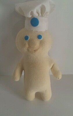 "Pillsbury Doughboy Terry Cloth Soft Squeezable 12"" Doll VERY  RARE find"