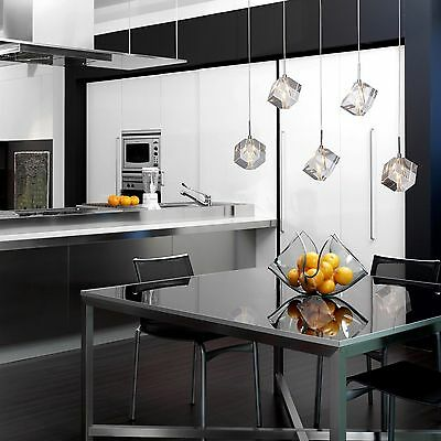 Modern K9 Crystal Chandeliers Ceiling light Pendant Chrome with 5 lights US