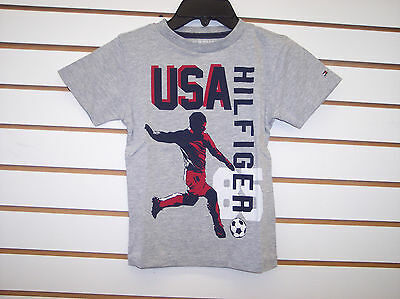 Toddler & Boys Tommy Hilfiger $18.50 Gray Graphic Tee Sizes 2T - 4