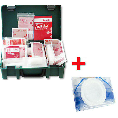 1-10 Person Premium HSE First Aid Workplace Kit + FREE 1x CPR Faceshield