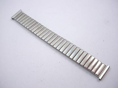"Mens Lenox Vintage Watch Band Stainless Steel 16mm 5/8"" Overhand Expansion NOS"