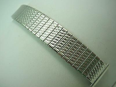"Speidel Stainless Steel Vintage Mens Straight Expansion Watch Band 19mm 3/4"" NOS"