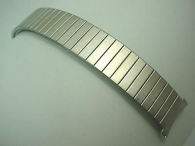 """Bulova Mens Vintage Watch Band Stainless Steel 19mm 3/4"""" 100% Expansion NOS"""
