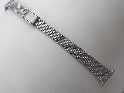 "Vintage Speidel Ladies 10mm-13mm 3/8""-1/2"" Watch Band Stainless St Sliding Clasp"