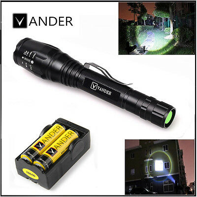 NEW UltraFire 2000 Lumen 5-Mode CREE XML-T6 Zoomable Focus LED Flashlight Torch