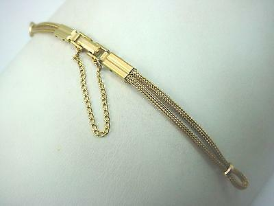 Neet Ladies Vintage Watch Band Butterfly Clasp Gold Tone Loop End New Old Stock
