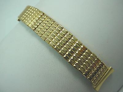 "Mens Vintage Watch Band 19mm 3/4"" Gold Filled Stonewall Overhand Expansion Short"