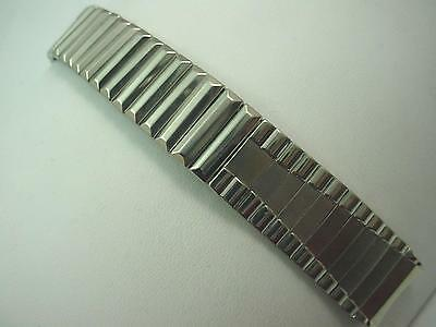 "Stonewall Mens Vintage Watch Band 16mm 5/8"" Stainless Steel Center Expansion NOS"