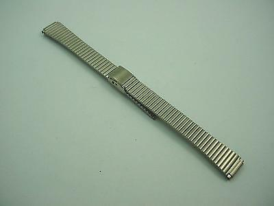 "Ladies Speidel Vintage Watch Band Sliding Clasp Stainless 10mm-13mm 3/8""-1/2"""