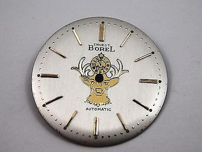 Ernest Borel Elk Vintage Mens Watch Dial Pearl Automatic Gold Mrkrs 28.63mm NOS