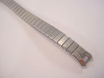 Vintage Speidel Ladies Loop End C-Ring Expansion Stainless Steel Watch Band NOS