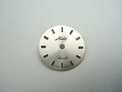 Pearl 15.02mm Vintage Mido Starlet Watch Dial Gold Stick Markers New Old Stock