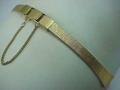 12mm Ladies Vintage Butterfly Clasp Watch Band Gold Tone New Old Stock
