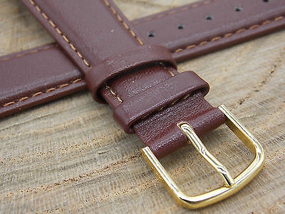Hirsch Brumby Brown Leather Mens Vintage Watch Band Water Resistant 20mm NOS