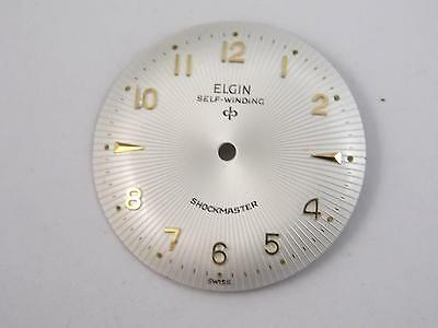 Elgin Self-Winding Pearl Watch Dial Vintage 27.42mm Gold Markers NOS