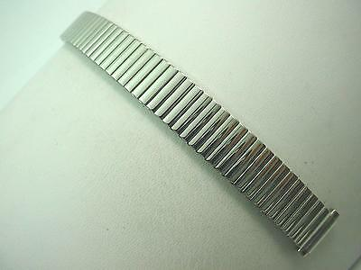 "Vintage Watch Band Ladies Gilden Stainless Steel 10mm-13mm 3/8""-1/2"" Expansion"