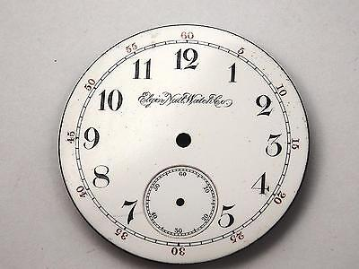 Elgin Natl Watch Co 43mm Watch Dial for Pocket Watches White Vintage Antique