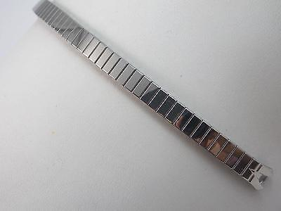 Stainless Steel Speidel Ladies Straight Expansion Watch Band Vintage C Ring NOS