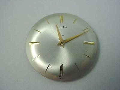 27.96mm Vintage Watch Dial Pearl Elgin Gold Stick Markers Hands  New Old Stock