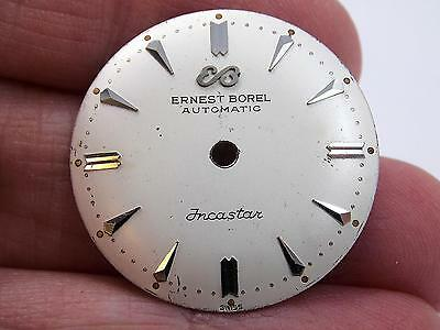 25.35mm Mens Automatic Ernest Borel Incastar Vintage Pearl Watch Dial Silver Mrk