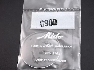 34mm Waterproof Ref#0900 Genuine Mido Vintage Watch Crystal Mens New Old Stock