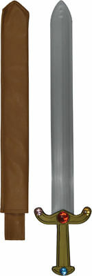 Morris Costumes Plastic Sword 24 Inches Long Jeweled Silver Grey Props. 16605