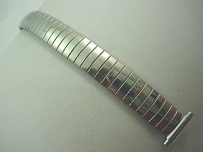 "12mm-15mm 1/2"" Ladies Vintage Watch Band Stainless Steel Straight Expansion NOS"