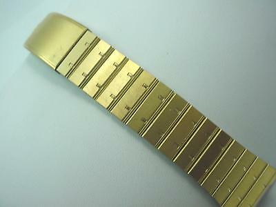 Mens Vintage Seiko Watch Band Deployment Clasp Gold Tone Base Metal Z1205